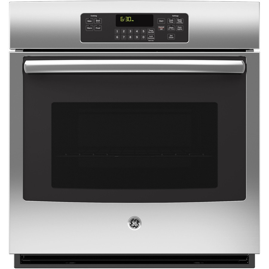 GE Self-Cleaning Single Electric Wall Oven (Stainless Steel) (Common: 27-in; Actual 26.75-in)