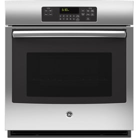 GE Self cleaning Single Electric Wall Oven  Stainless Steel Common 27 Shop Ovens at Lowes com