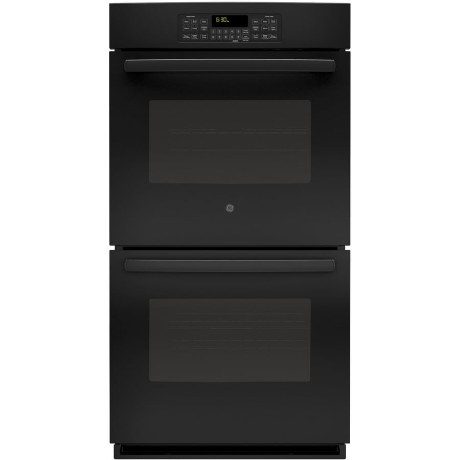 GE Self-Cleaning Double Electric Wall Oven (Black) (Common: 27-in; Actual: 26.75-in)