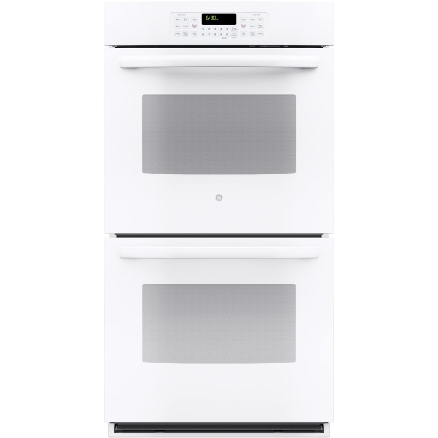 GE Self-Cleaning Double Electric Wall Oven (White) (Common: 27-in; Actual: 26.75-in)