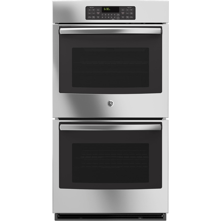 GE Self-Cleaning Double Electric Wall Oven (Stainless Steel) (Common: 27-in; Actual: 26.71-in)