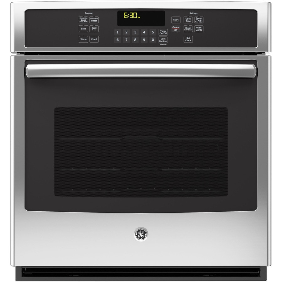 GE Self-Cleaning Convection Single Electric Wall Oven (Stainless Steel) (Common: 27-in; Actual 26.75-in)
