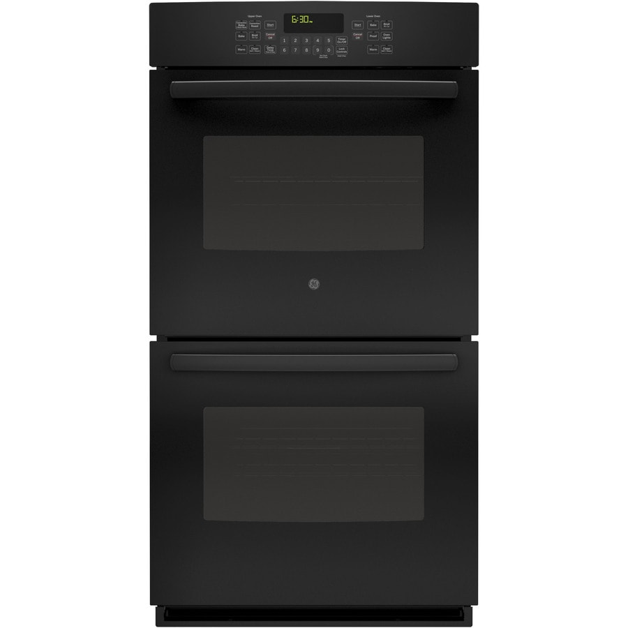 GE Self-Cleaning Convection Double Electric Wall Oven (Black) (Common: 27-in; Actual: 26.71-in)