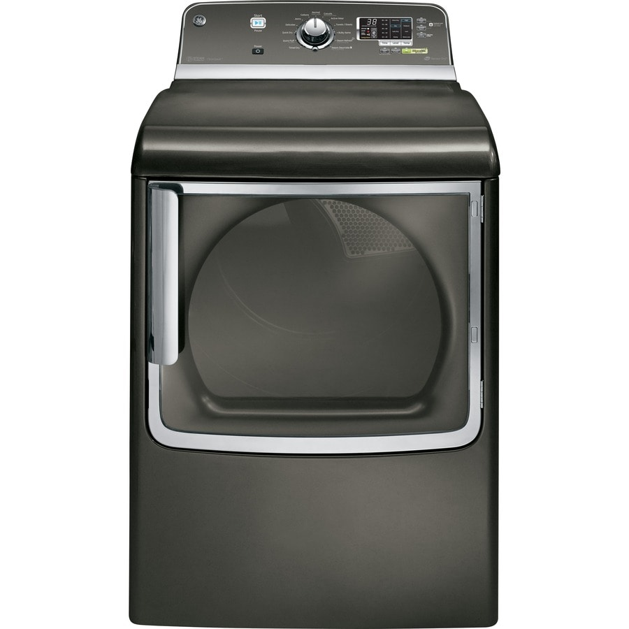 GE 7.8-cu ft Electric Dryer with Steam Cycle (Metallic Carbon)