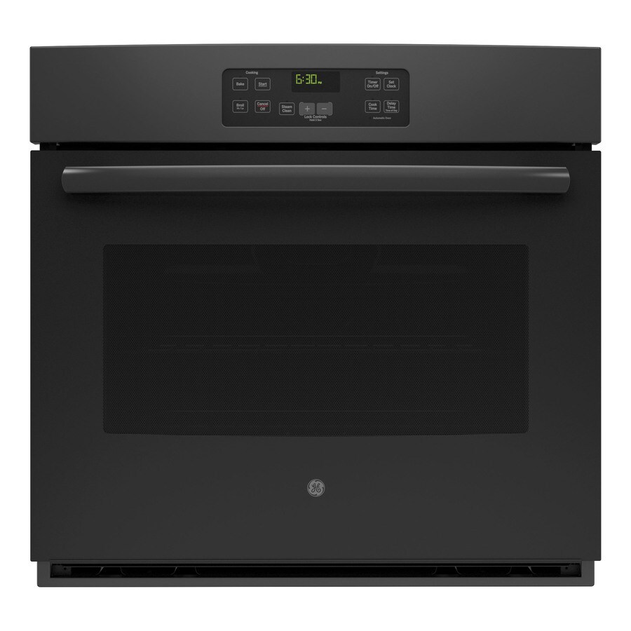 GE with Steam Single Electric Wall Oven (Black) (Common: 30-in; Actual 29.75-in)