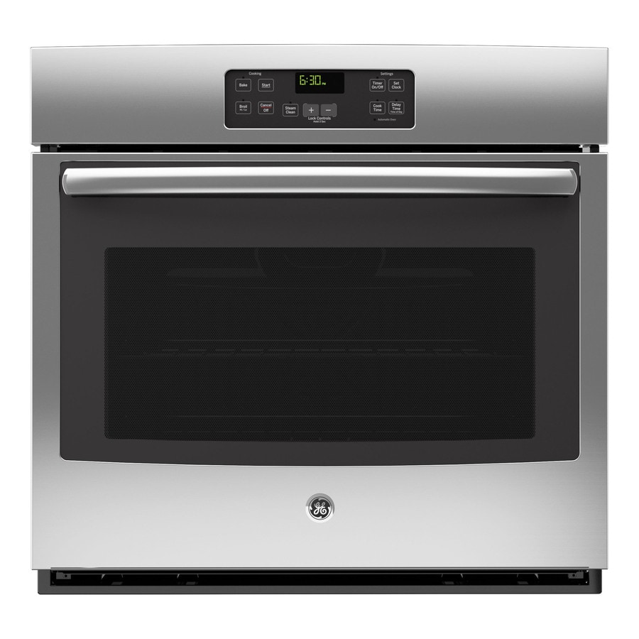 GE with Steam Single Electric Wall Oven (Stainless Steel) (Common: 30-in; Actual 29.75-in)