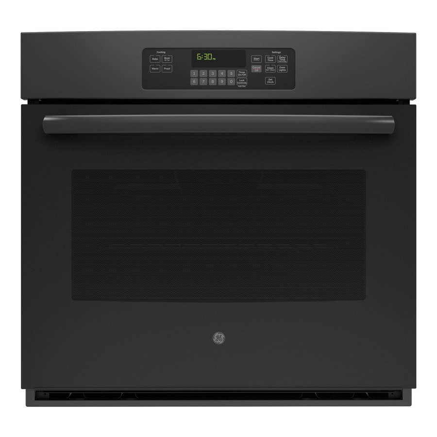 GE Self-Cleaning with Steam Single Electric Wall Oven (Black) (Common: 30-in; Actual 29.75-in)