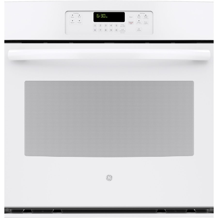GE Self-Cleaning with Steam Single Electric Wall Oven (White) (Common: 30-in; Actual 29.75-in)
