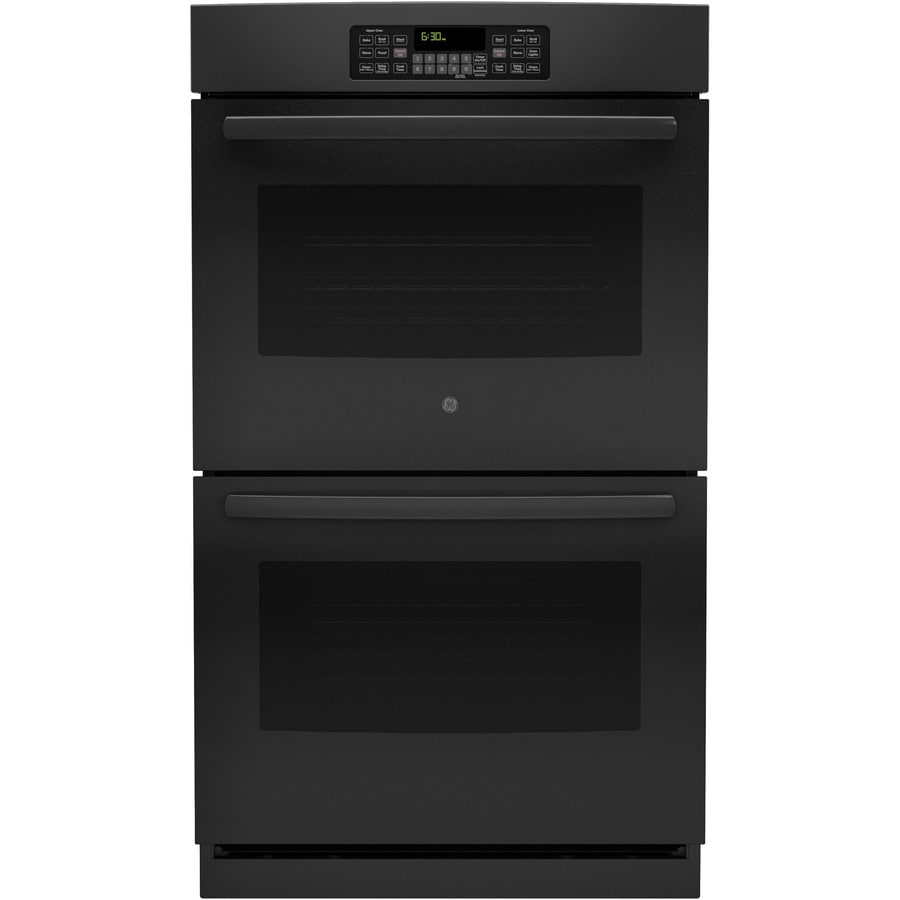 GE Self-Cleaning Double Electric Wall Oven (Black) (Common: 30-in; Actual: 29.75-in)