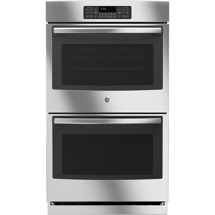 Double Wall Ovens ~ Shop ge self cleaning double electric wall oven stainless