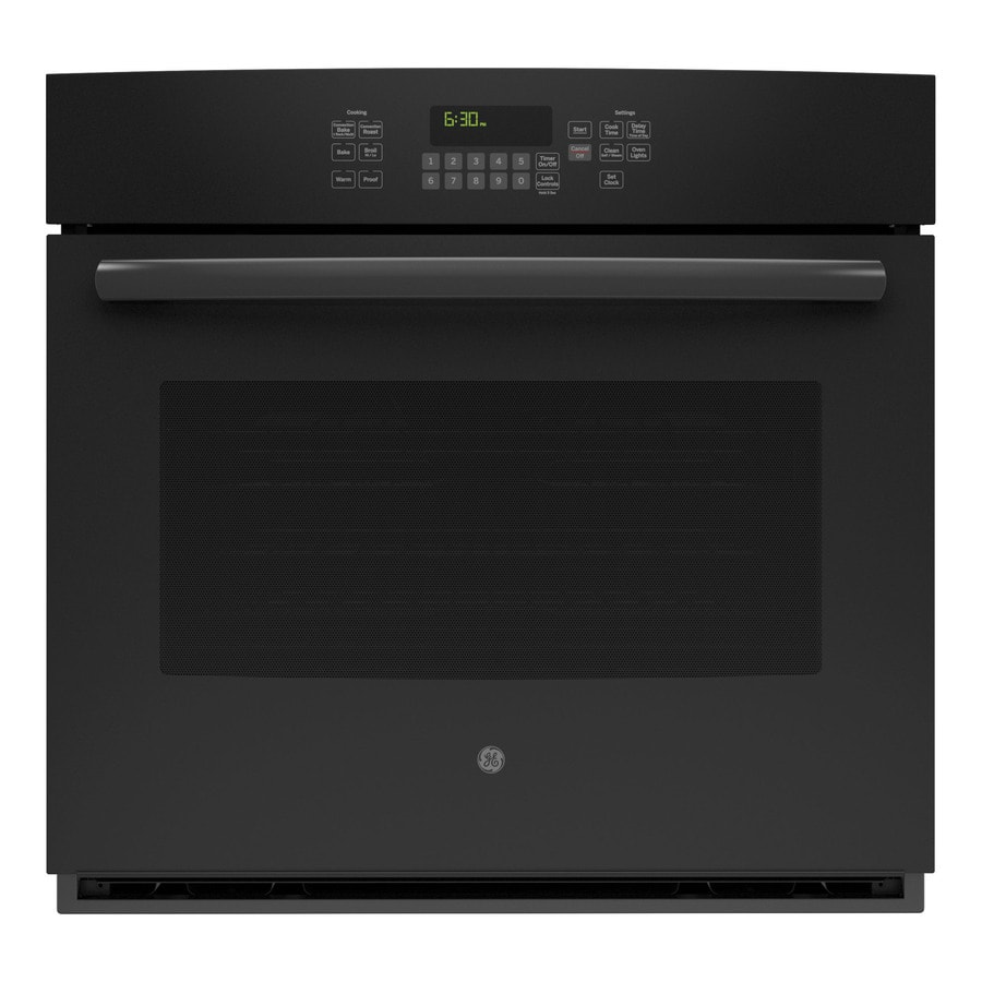 GE Self-Cleaning with Steam Convection Single Electric Wall Oven (Black) (Common: 30-in; Actual 29.75-in)