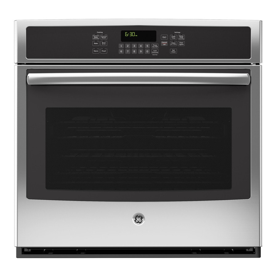 GE Convection Single Electric Wall Oven (Stainless Steel) (Common: 30-in; Actual 29.75-in)