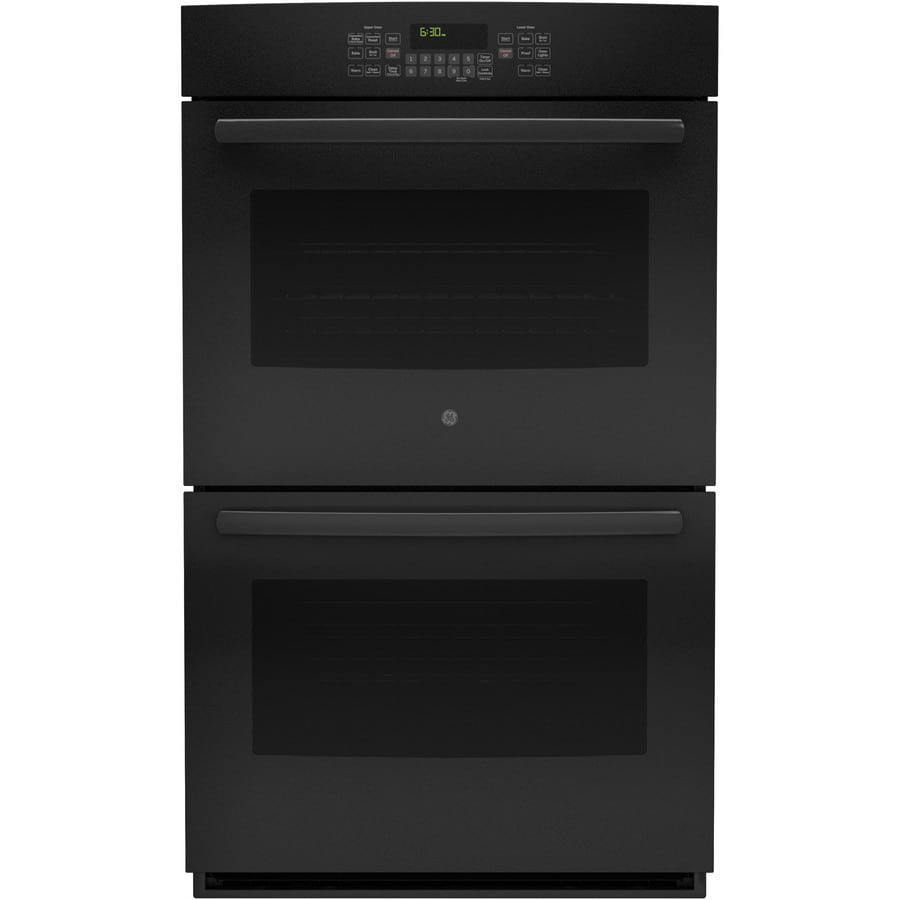 GE Self-Cleaning Convection Double Electric Wall Oven (Black) (Common: 30-in; Actual: 29.75-in)