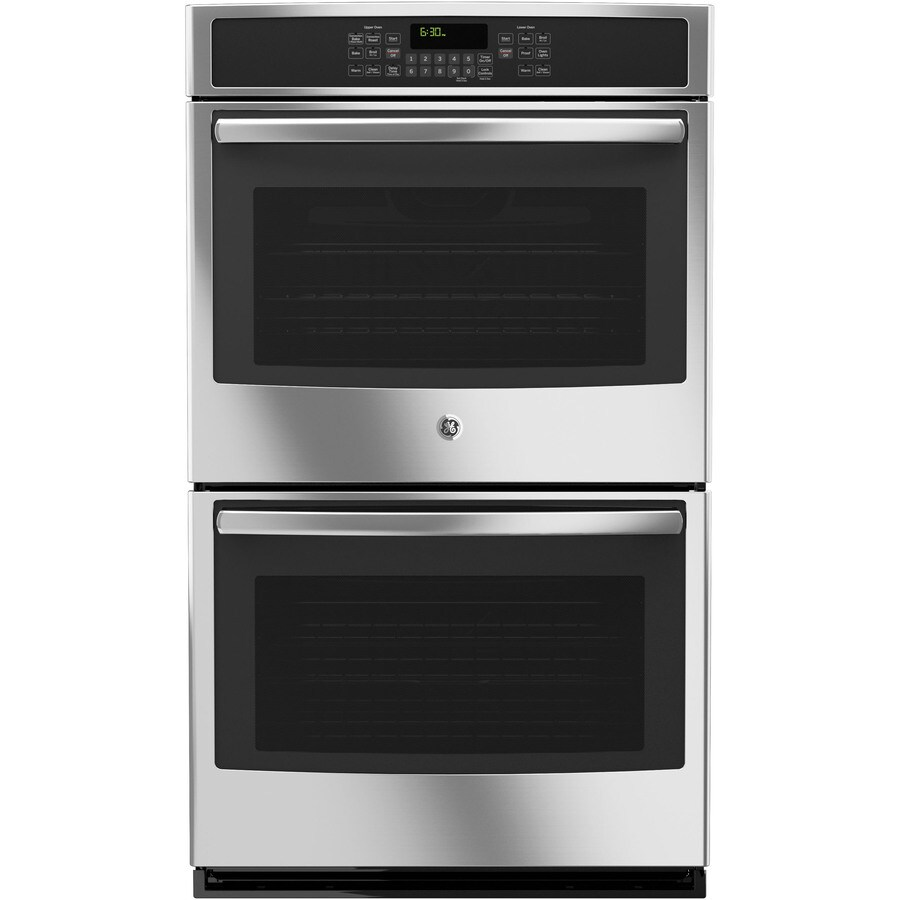 GE Self-Cleaning Convection Double Electric Wall Oven (Stainless Steel) (Common: 30-in; Actual: 29.75-in)
