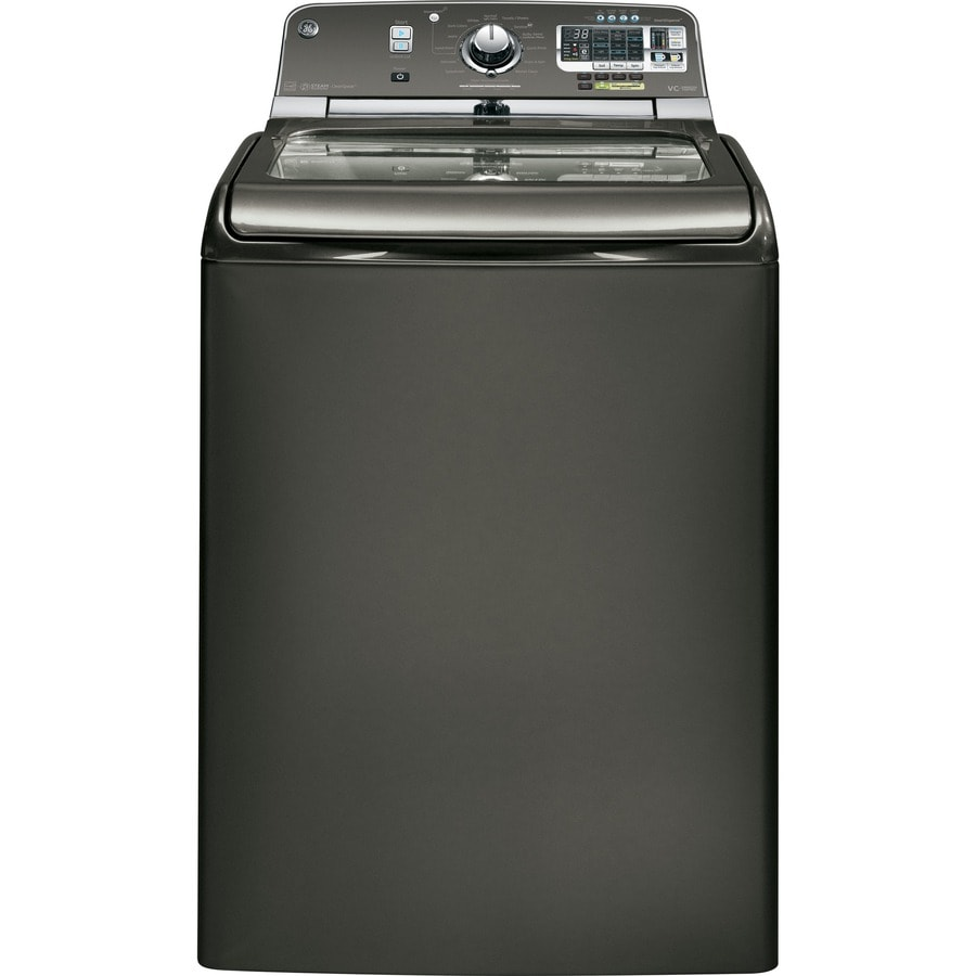 GE 5.0-cu ft High-Efficiency Top-Load Washer (Metallic Carbon)