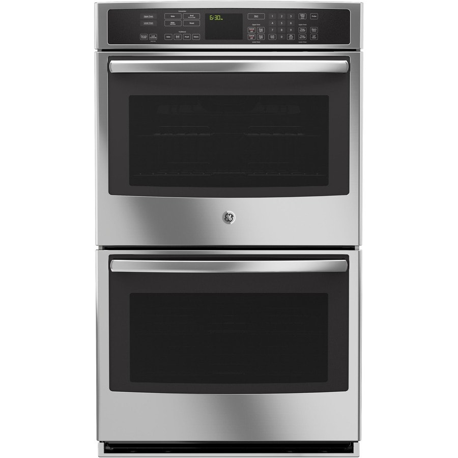 GE Profile Self-Cleaning Convection Single-Fan European Element Double Electric Wall Oven (Stainless Steel) (Common: 30-in; Actual: 29.75-in)