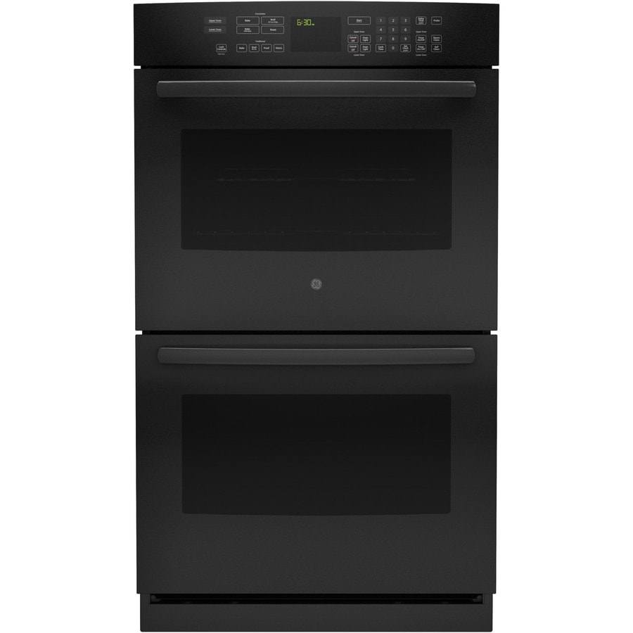 GE Profile Self-Cleaning Convection Double Electric Wall Oven (Black) (Common: 30-in; Actual: 29.75-in)