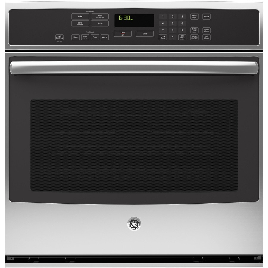 GE Profile Self-Cleaning with Steam Convection Single Electric Wall Oven (Stainless Steel) (Common: 30-in; Actual 29.75-in)