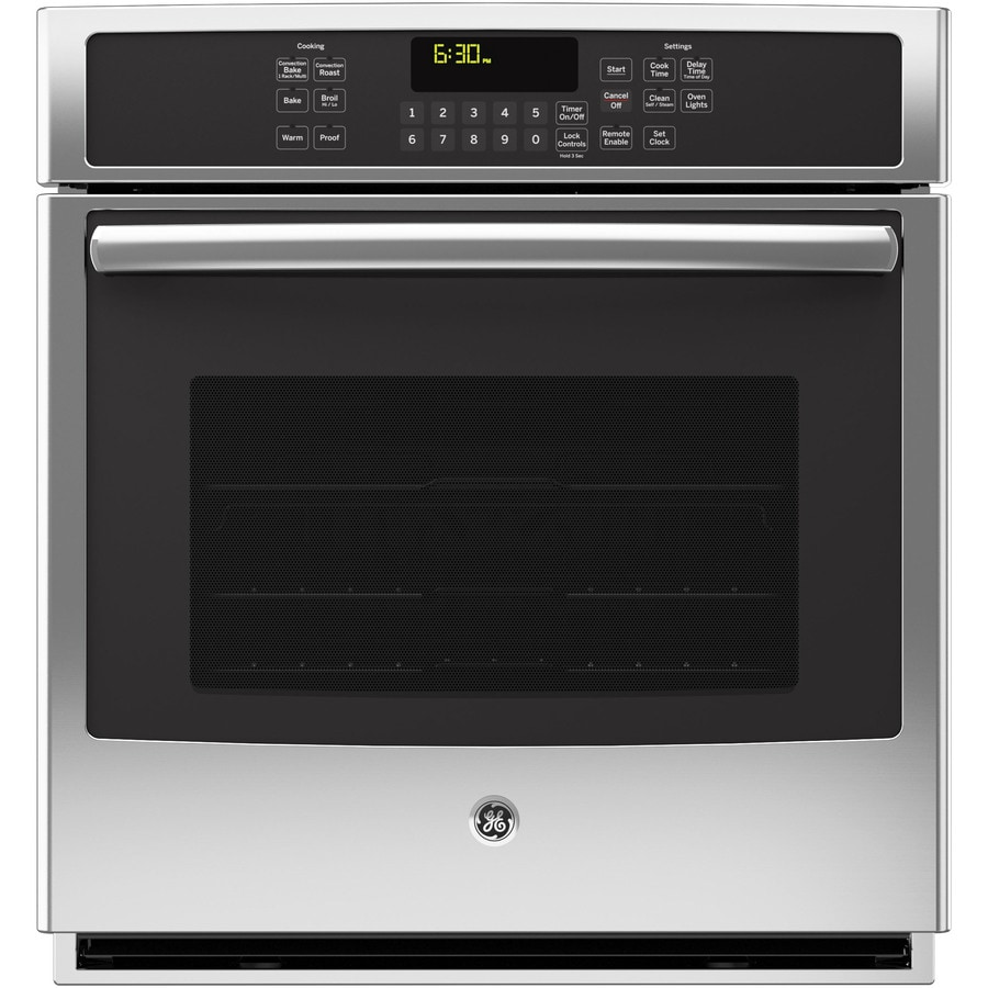 GE Profile Self-Cleaning Convection Single Electric Wall Oven (Stainless Steel) (Common: 27-in; Actual 26.75-in)
