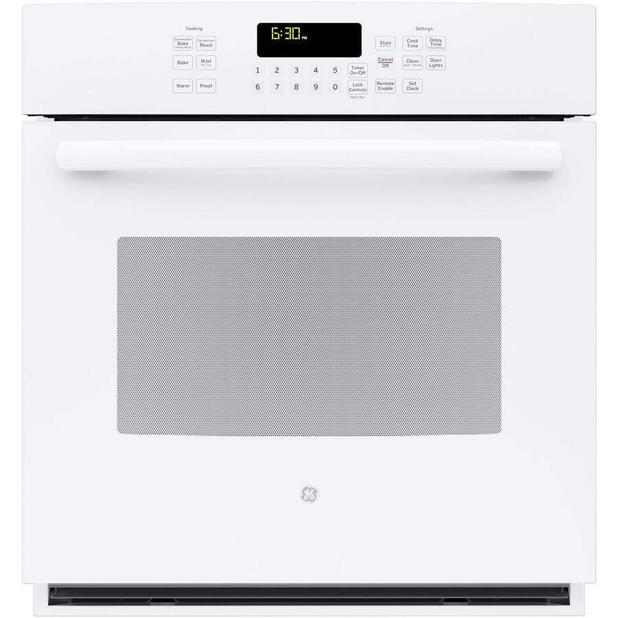 GE Profile Self-Cleaning with Steam Convection Single Electric Wall Oven (White) (Common: 27-in; Actual 26.71875-in)