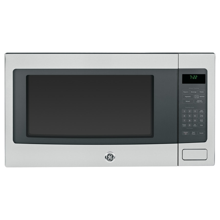 Ge Profile 2 Cu Ft 1 100 Watt Countertop Microwave Stainless Steel