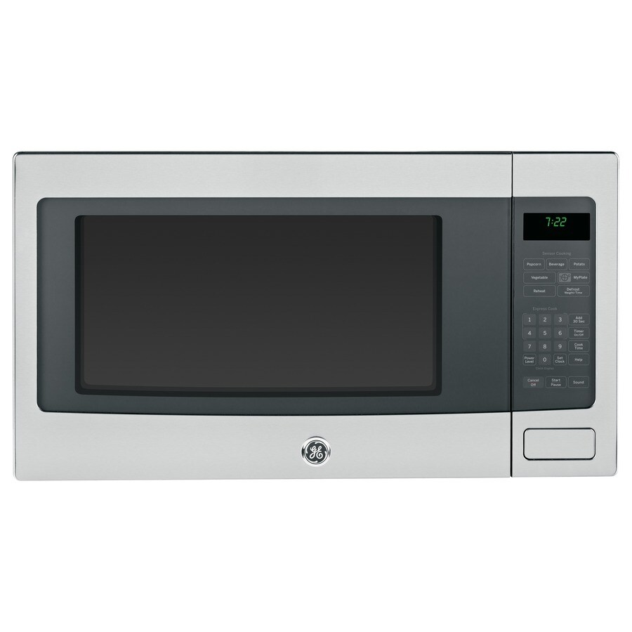 GE Profile 2.2-cu ft 1,100-Watt Countertop Microwave (Stainless Steel)