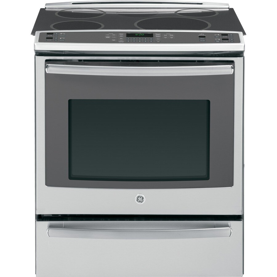 GE Profile Smooth Surface 5-Element Self-Cleaning Slide-in Convection Electric Range (Stainless Steel) (Common: 30-in; Actual 31.25-in)