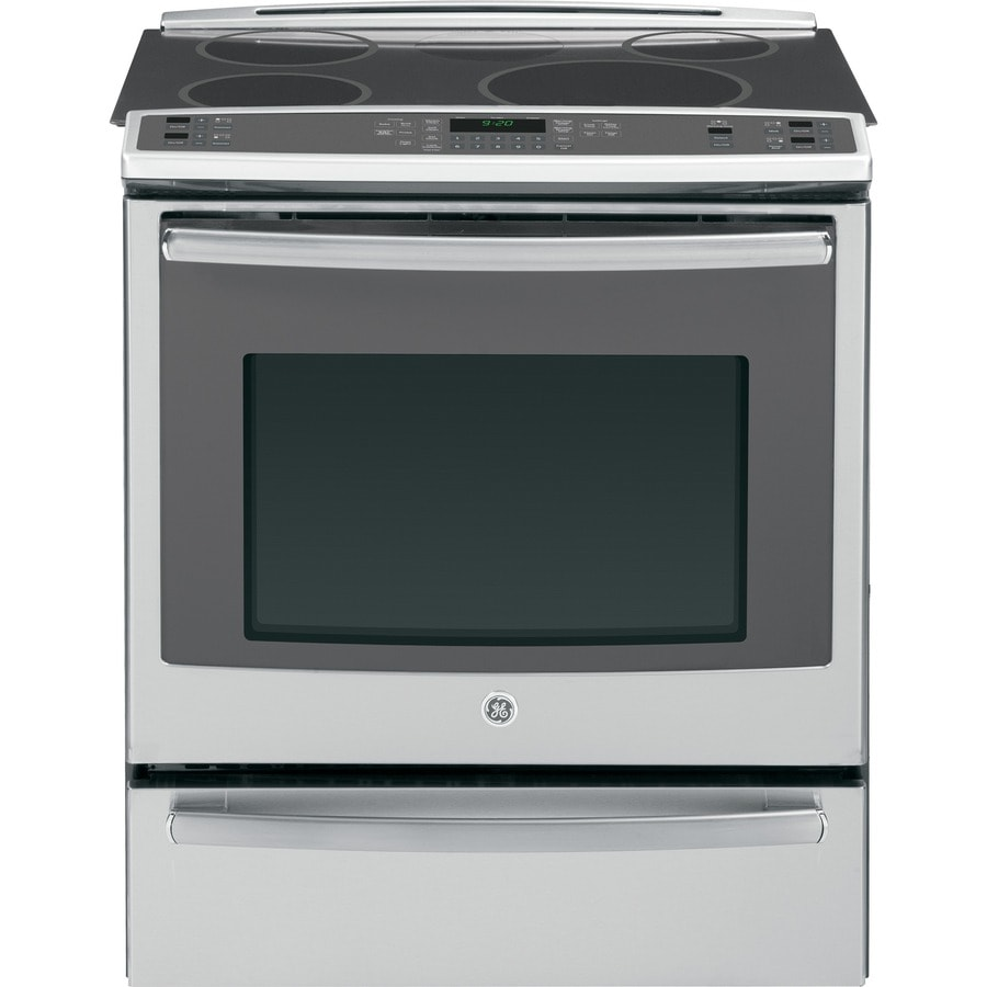 GE Profile Smooth Surface 5-Element Slide-In Convection Electric Range (Stainless Steel) (Common: 30-in; Actual 31.25-in)