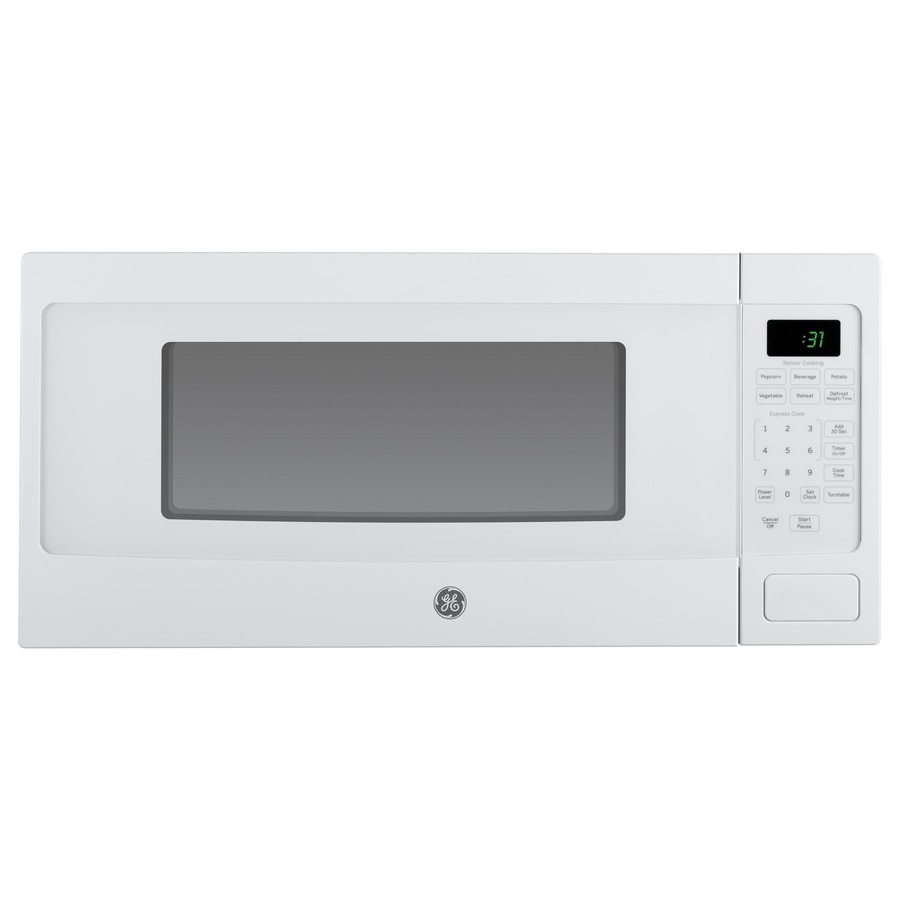 GE Profile 1.1-cu ft 800-Watt Countertop Microwave (White)