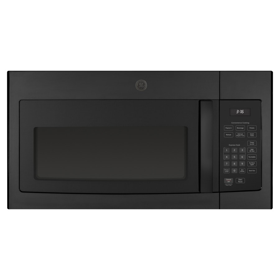 Lowes microwaves over the range white - Ge 1 6 Cu Ft Over The Range Microwave Black Common