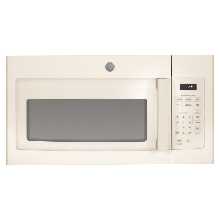 GE 1.6-cu ft Over-the-Range Microwave (Bisque) (Common: 30-in; Actual: 29.875-in)