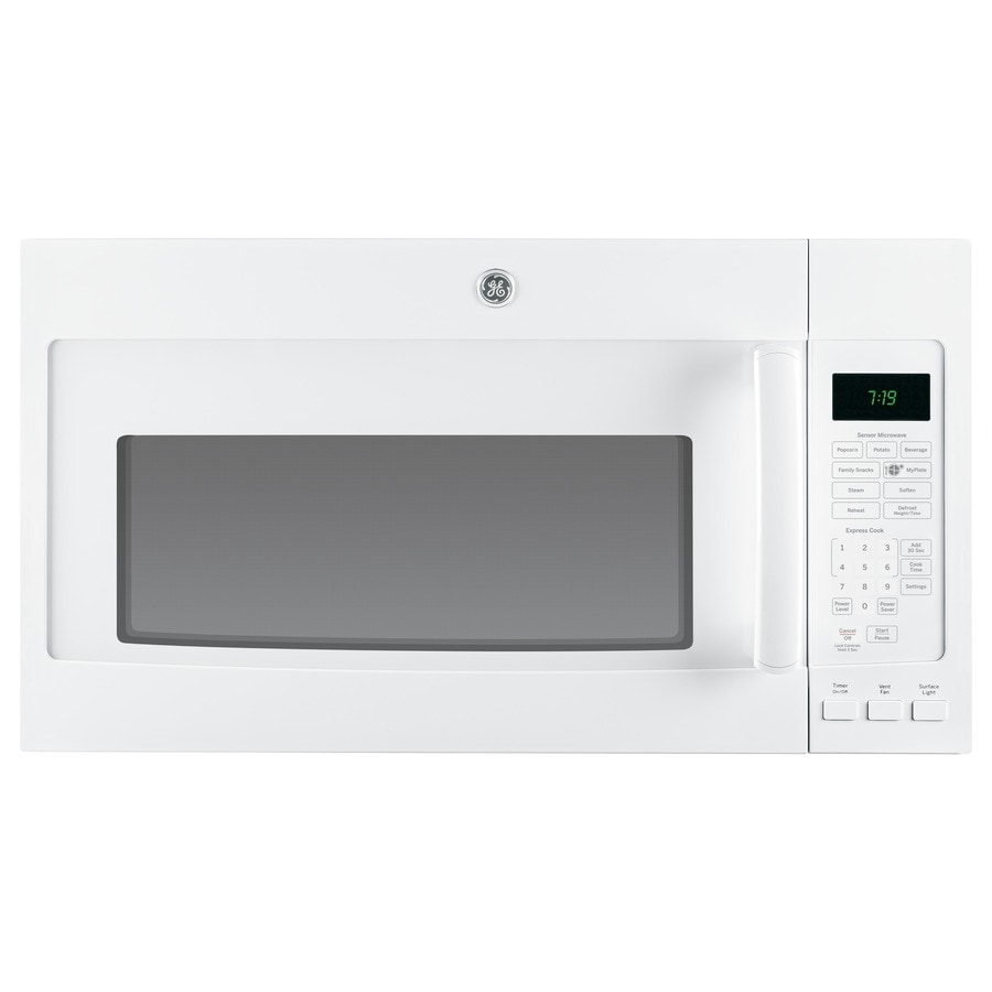 Ge 1 9 Cu Ft Over The Range Microwave With Sensor Cooking Controls