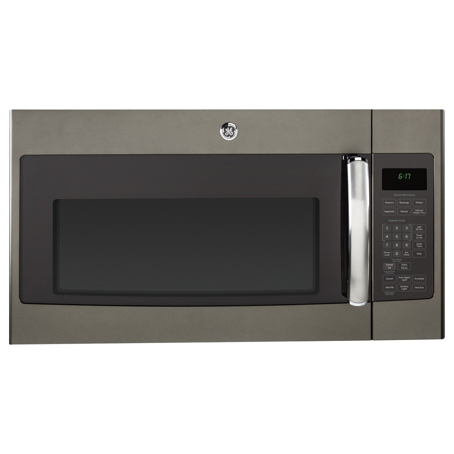 Ge 1 7 Cu Ft Over The Range Microwave Sensor Cooking Controls Slate