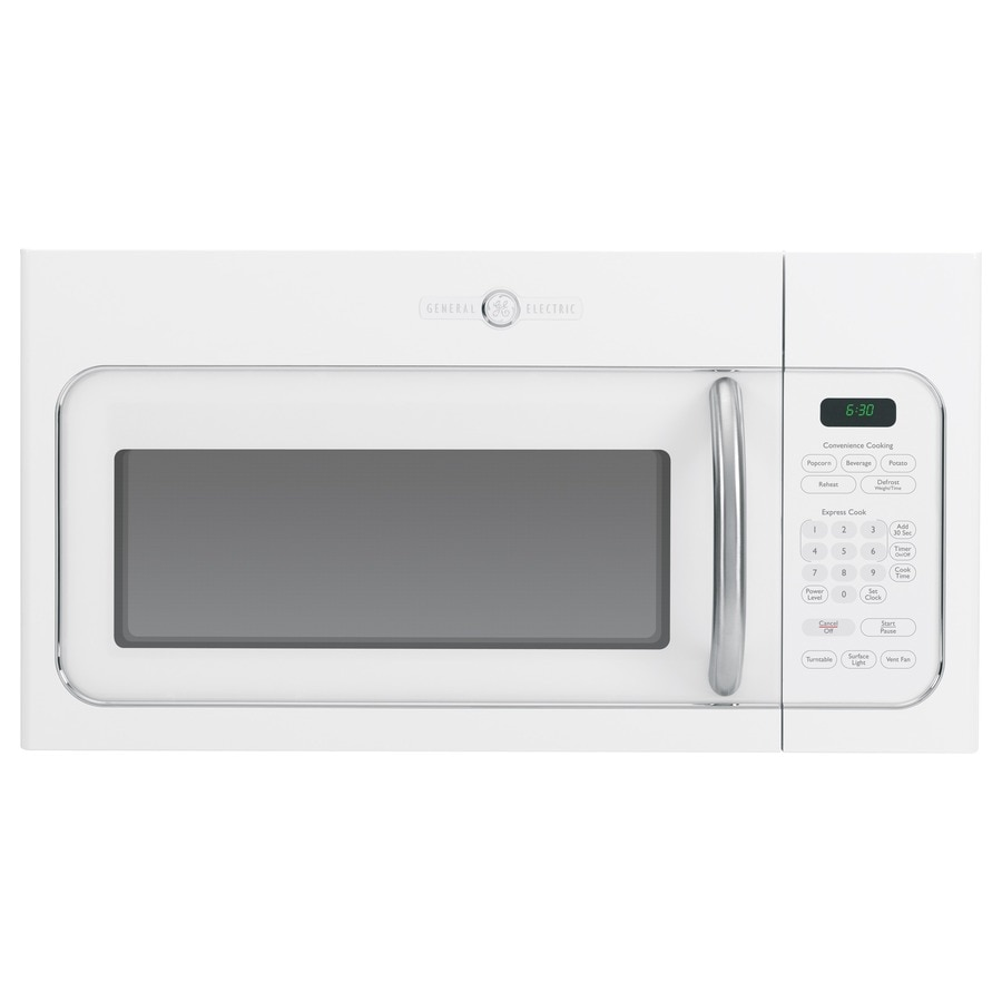 GE Artistry 1.6-cu ft Over-The-Range Microwave (White) (Common: 30-in; Actual: 29.87-in)