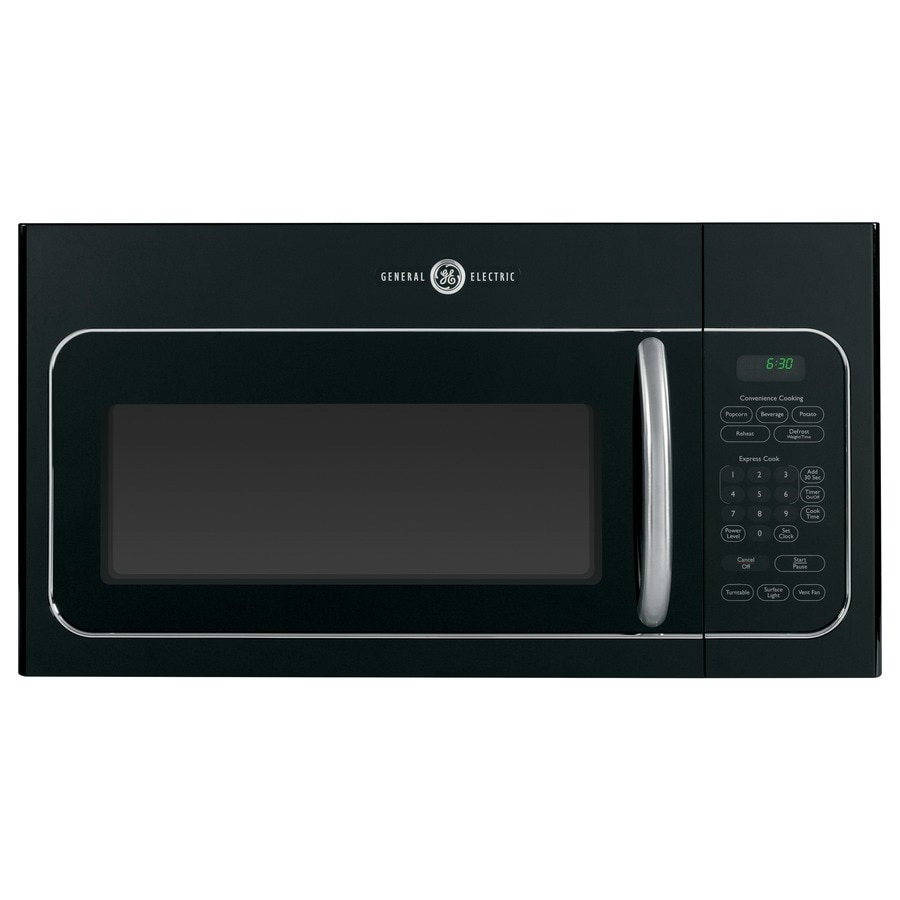 GE Artistry 1.6-cu ft Over-The-Range Microwave (Black) (Common: 30-in; Actual: 29.87-in)