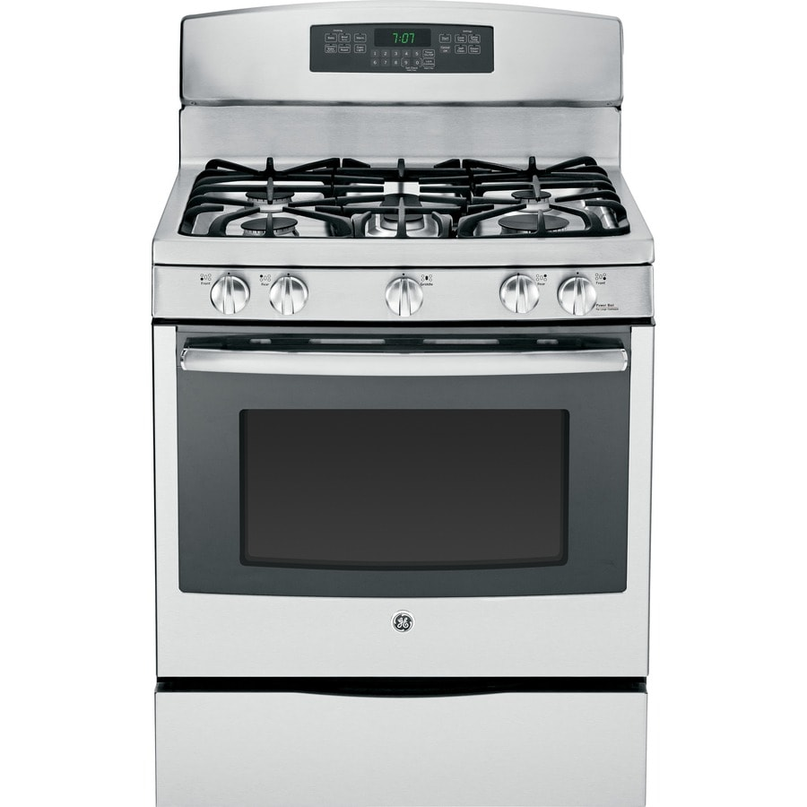 Ge 5 Burner Freestanding 6 Cu Ft Self Cleaning Convection Gas Range