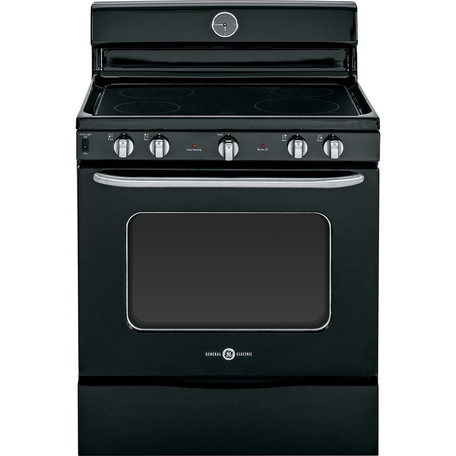 GE Artistry Smooth Surface Freestanding 5-cu ft Electric Range (Black) (Common: 30-in; Actual: 30-in)