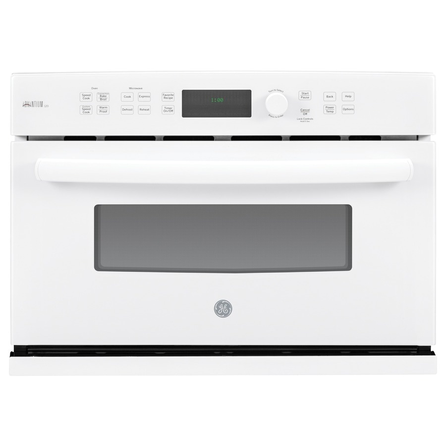 GE Profile Advantium Convection Single Electric Wall Oven Speed Cook (White) (Common: 27-in; Actual 26.75-in)