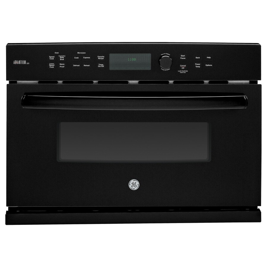 GE Profile Advantium Convection Single Electric Wall Oven Speed Cook (Black) (Common: 27-in; Actual 26.75-in)
