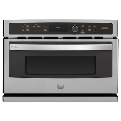 Profile Advantium 1 7 Cu Ft Built In Convection Microwave With Sensor Cooking Controls And Sd Cook Stainless Steel