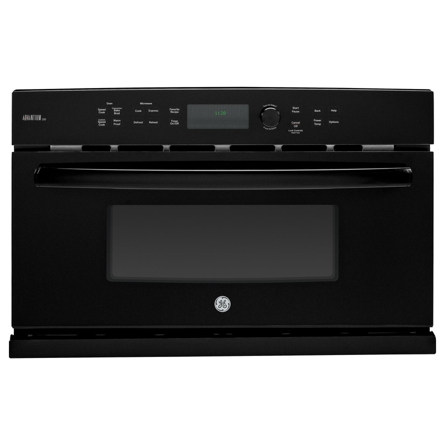 GE Profile Advantium Convection Single Electric Wall Oven Speed Cook (Black) (Common: 30-in; Actual 29.7812-in)