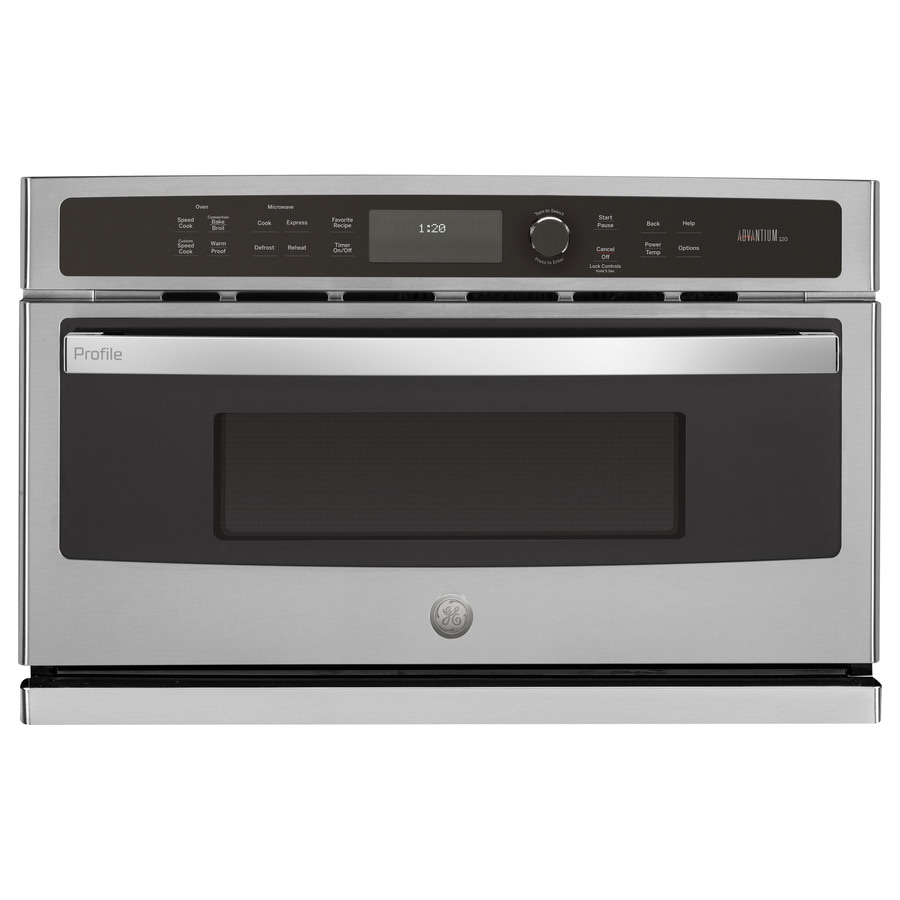 GE Profile 1.7-cu ft Built-in Speed Cook Convection Microwave with Sensor Cooking Controls (Stainless Steel)