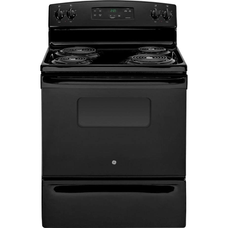 Shop GE Freestanding 5-cu Ft Electric Range (Black