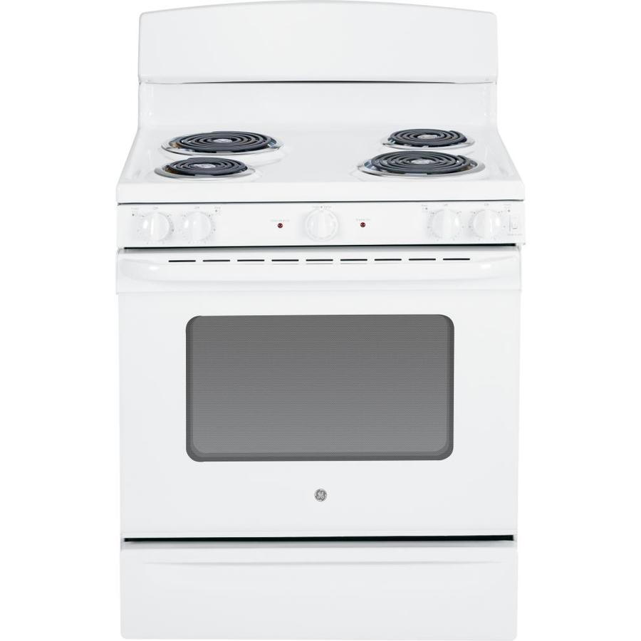 GE Freestanding 5-cu ft Electric Range (White) (Common: 30-in; Actual: 29.87-in)