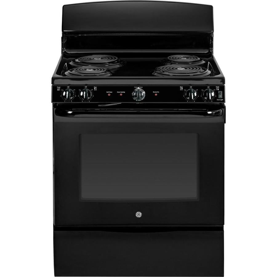 GE Freestanding 5-cu ft Self-Cleaning Electric Range (Black) (Common: 30-in; Actual: 29.875-in)