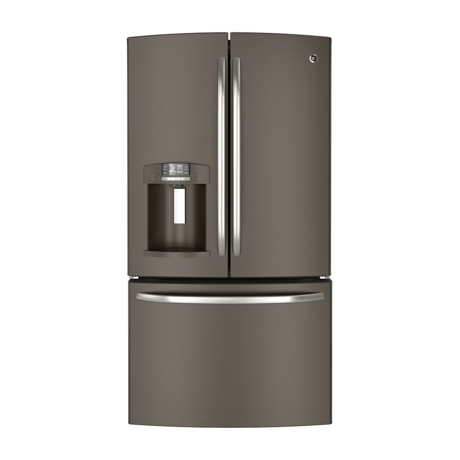 Ge 26 7 Cu Ft French Door Refrigerator With Single Ice