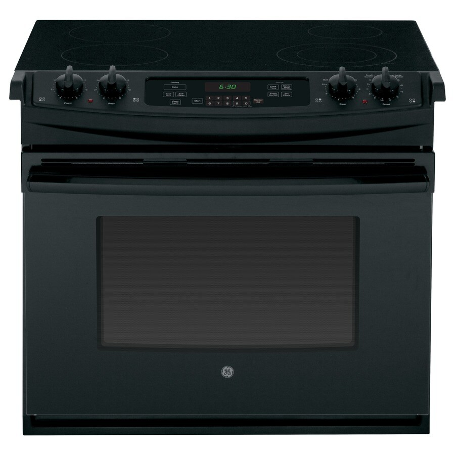 Ge Smooth Surface 4 Cu Ft Self Cleaning Drop In Electric Range Black Common 30 Actual 31 25 233 Ratings