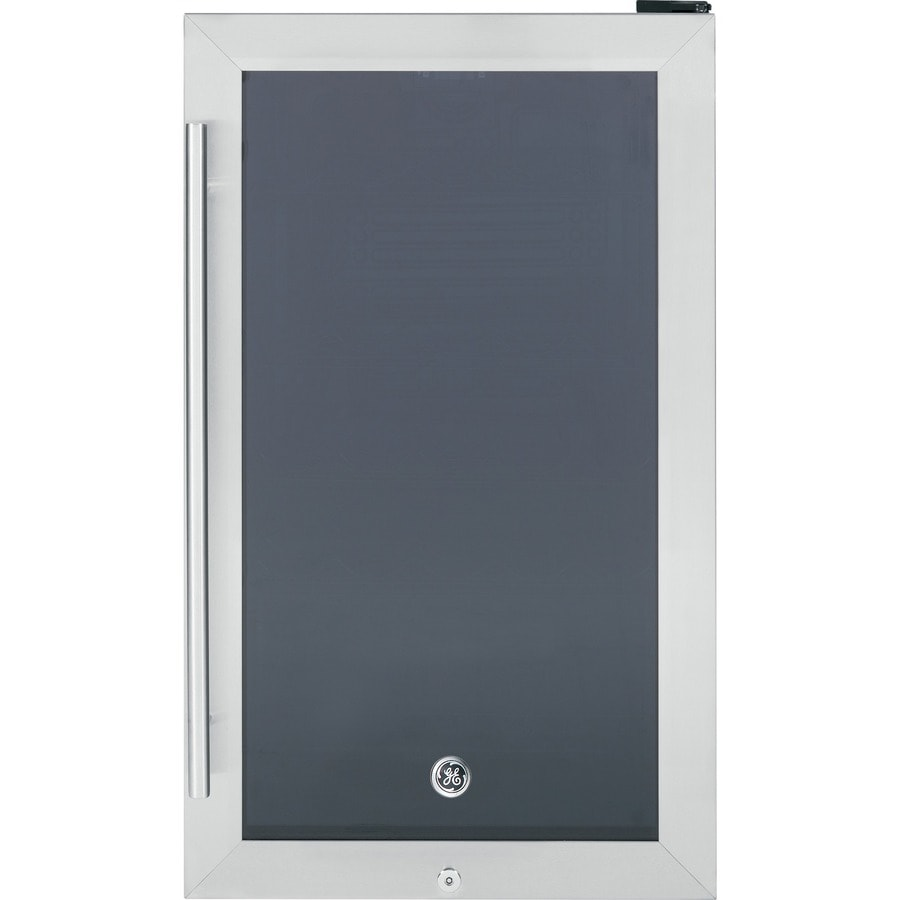 GE 4.1-cu ft Stainless Steel Freestanding Beverage Center