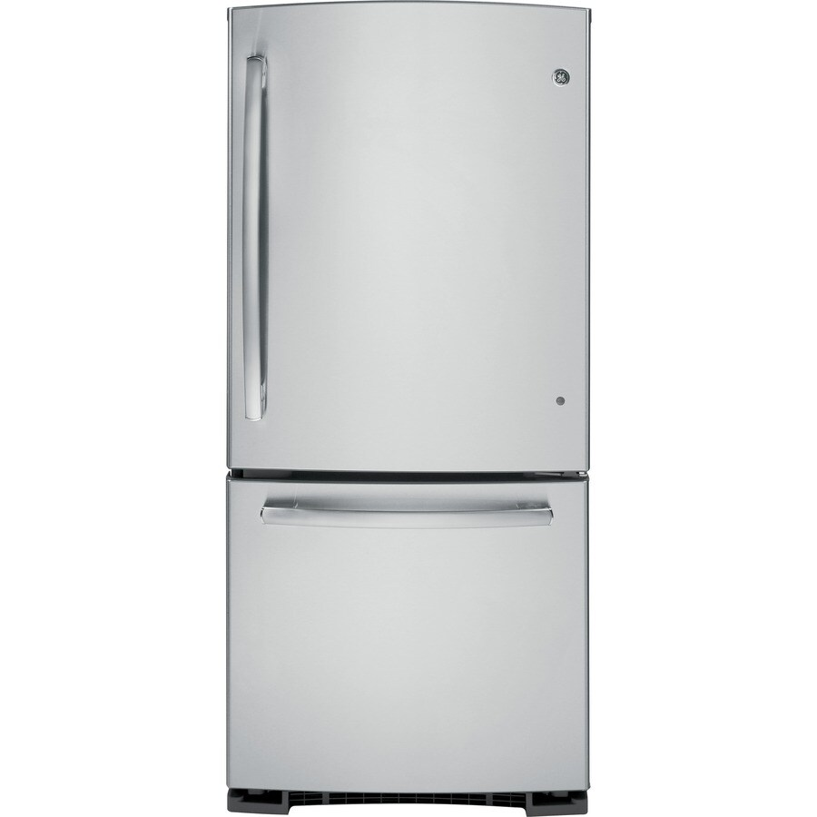Merveilleux GE 20.2 Cu Ft Bottom Freezer Refrigerator With Single Ice Maker (Stainless  Steel