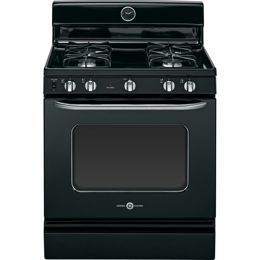 GE Artistry Freestanding 4.8-cu ft Gas Range (Black) (Common: 30-in; Actual: 30-in)